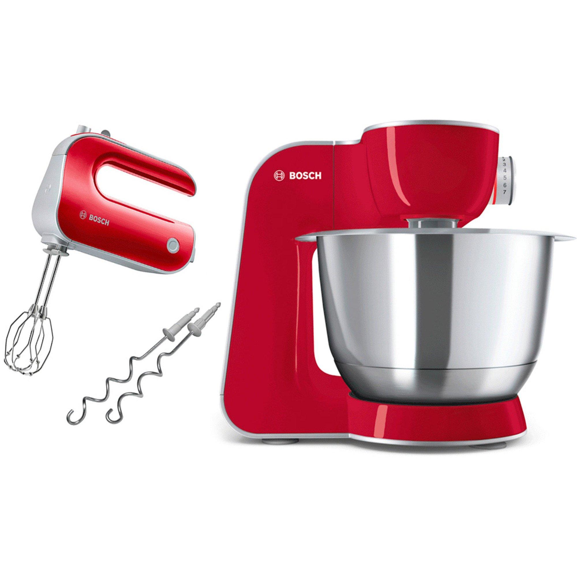 Bosch Kjøkkenmaskin MUM5 CreationLine Dyp rød/Sølv