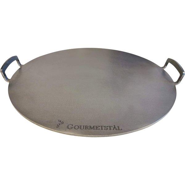 Gourmetstål Rund pizzastål med grep, 49 cm